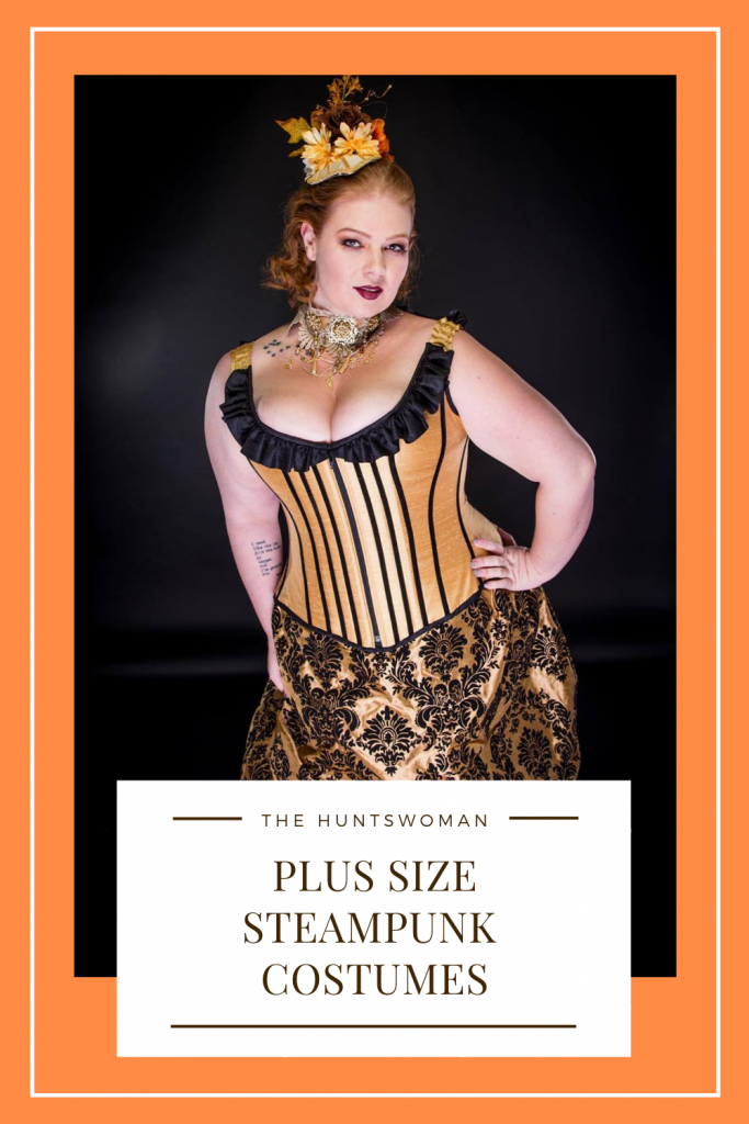 Looking for plus size cosplay and steampunk costumes?  This blog post has full plus size steampunk costumes that can be fully customized as well as Halloween costumes.