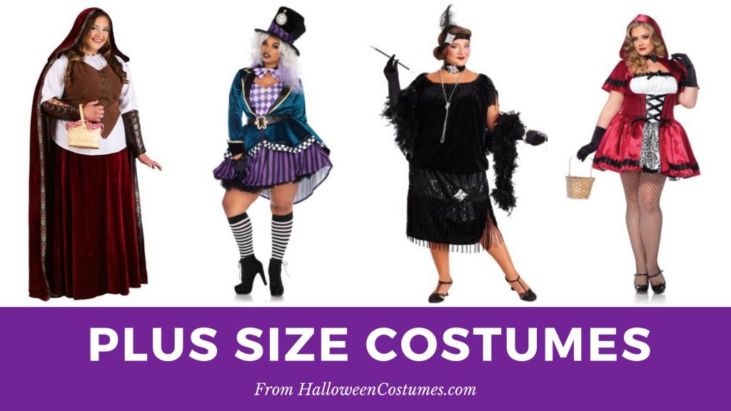 Plus size halloween costumes form HalloweenCostumes.com