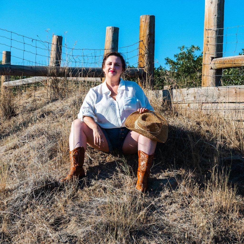 Cowgirl fashion photoshoot editorial in utah