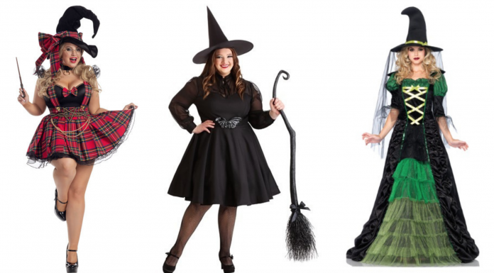 where to buy plus size witch Halloween costumes