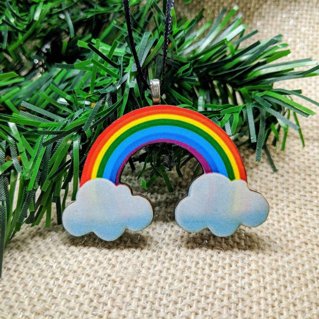 rainbow pride - LGBT holiday christmas tree ornmanet