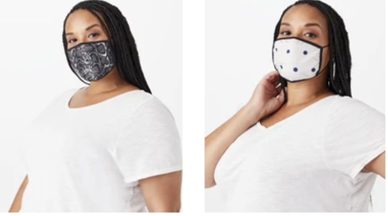 plus size face masks from Dia & Co