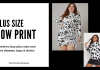 Where to buy plus size cow print dresses