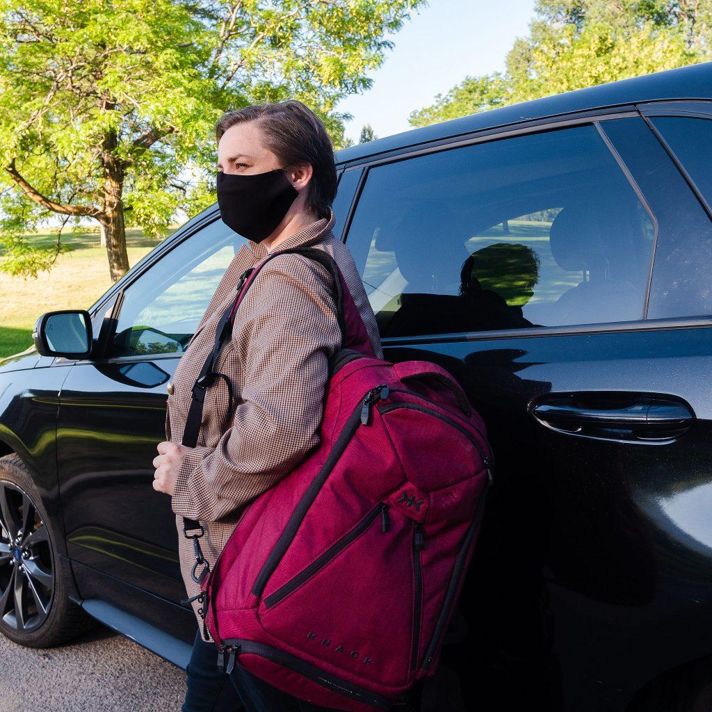 Women's business laptop travel backpack from Knack Bags.JPG
