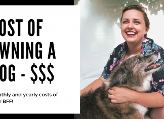 cost of owning a dog - monthly and yearly expenses