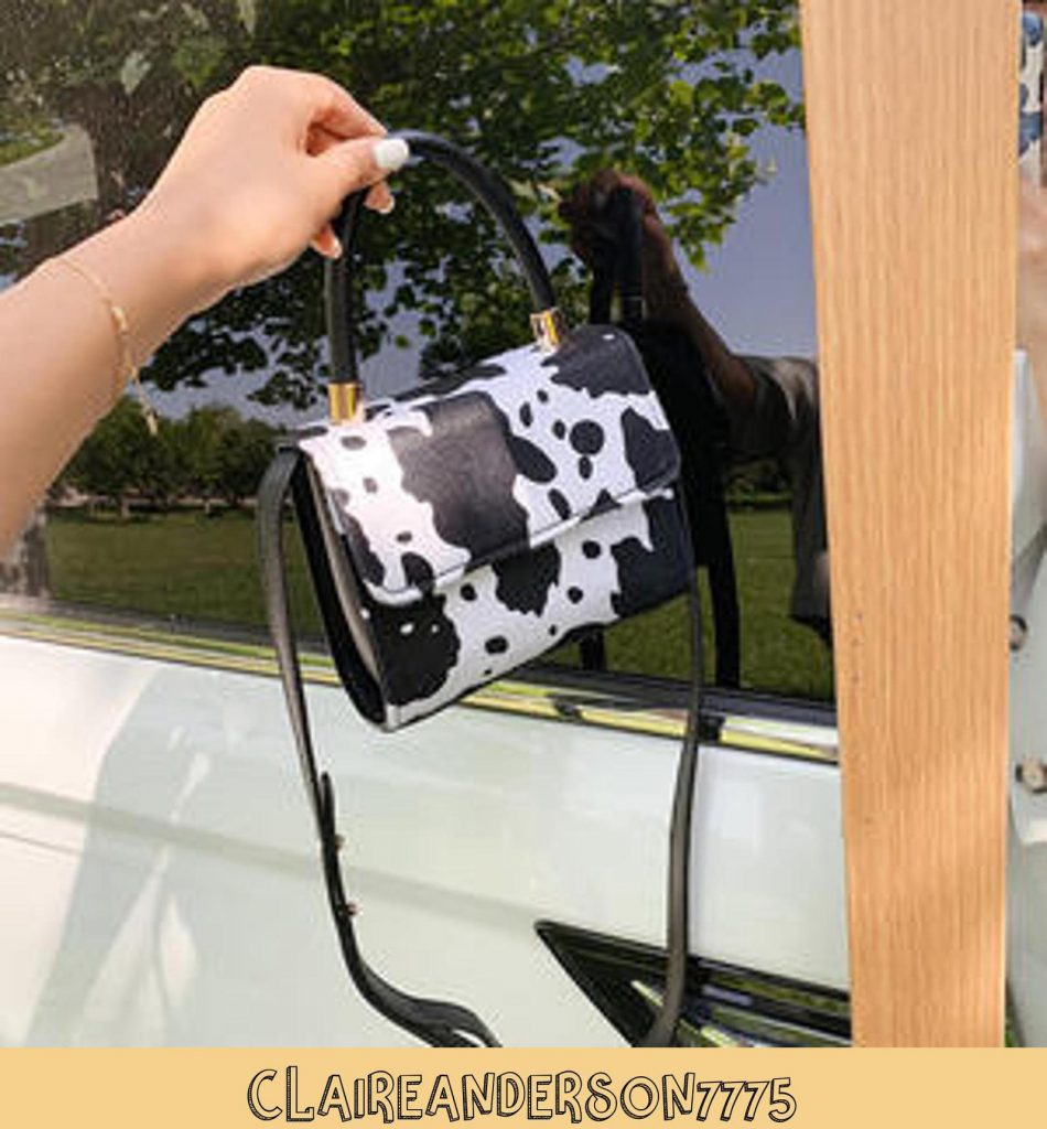cow print mini purse with strap