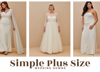 simple plus size wedding gowns