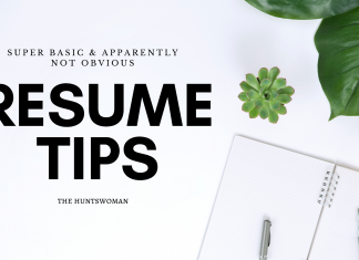 Tips for a resume