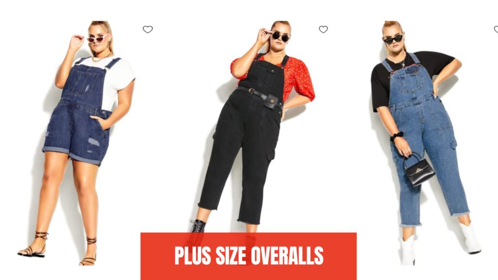 denim Plus Size Overalls