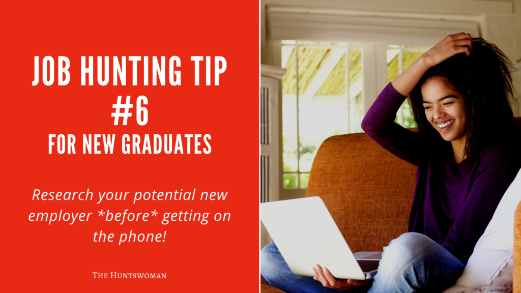 Job Hunting Tips for New Graduates - research