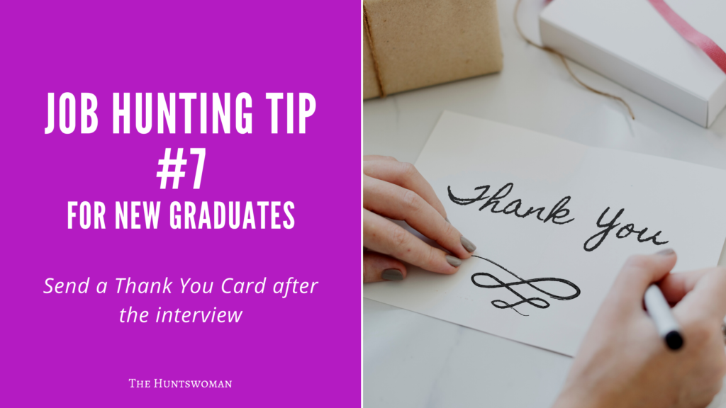 Job Hunting Tips for New Graduates - volunteering - thank you notes