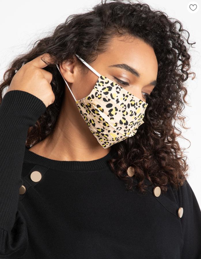 cheetah print plus size face mask