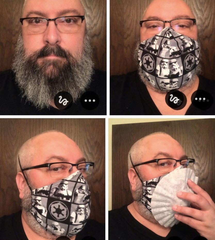 XL face mask for men with beards