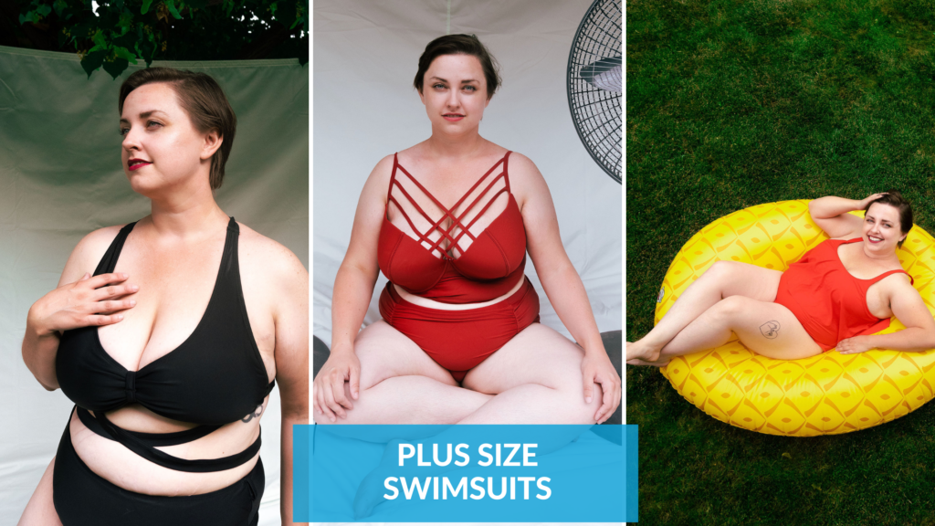 plus size swimsuits on amazon
