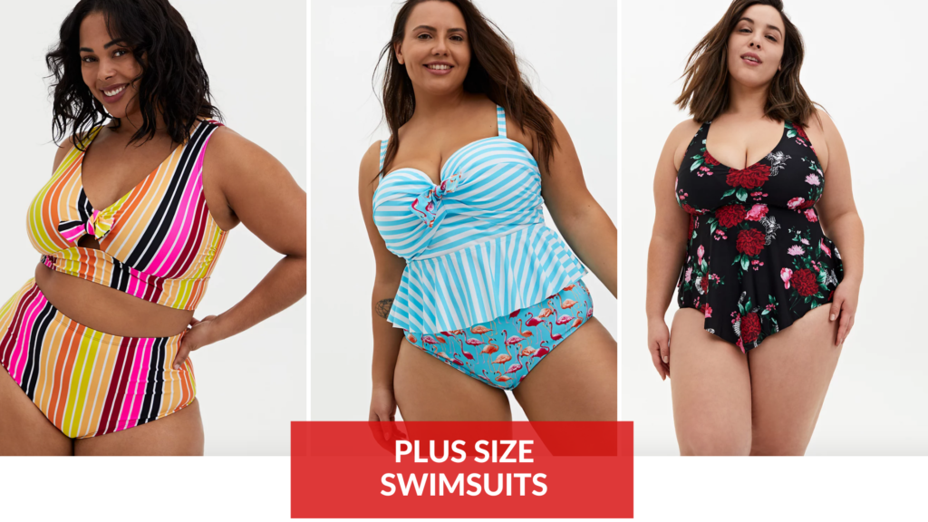 high waisted plus size swimsuits