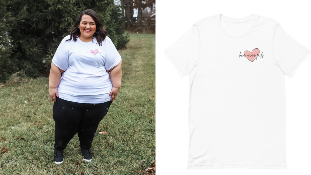 5X Plus Size Valentine's Day shirts