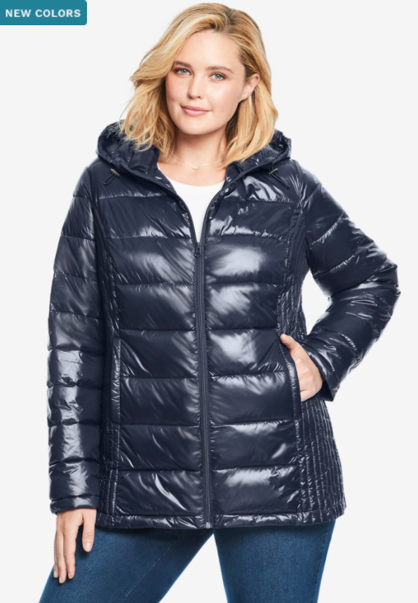plus size witer coat that's a puff jacket