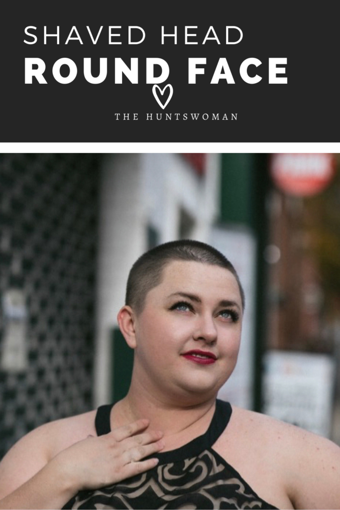 Pinterest graphic round head shaved face