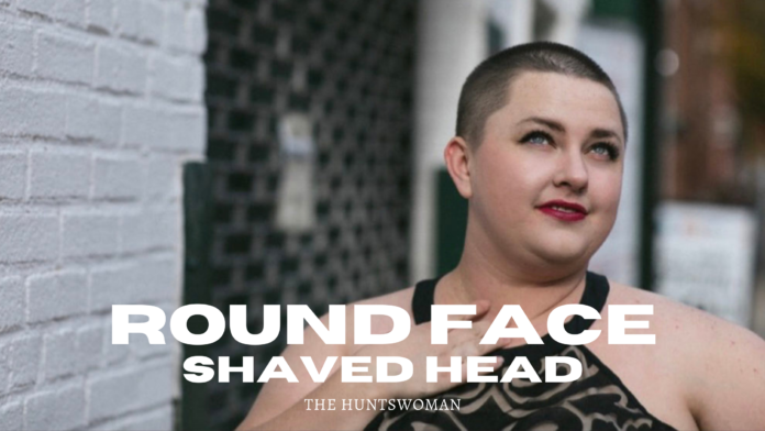 round face shaved head photos