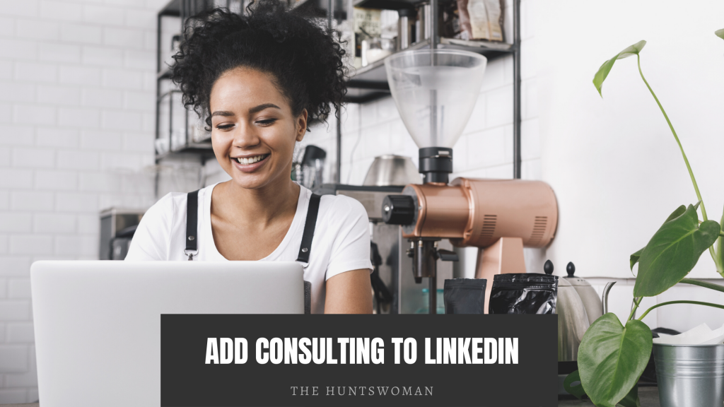 add consulting offering to linkedin graphic  on making more money