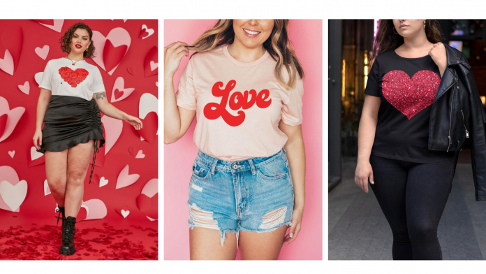 where to buy plus size valentine's day shirts