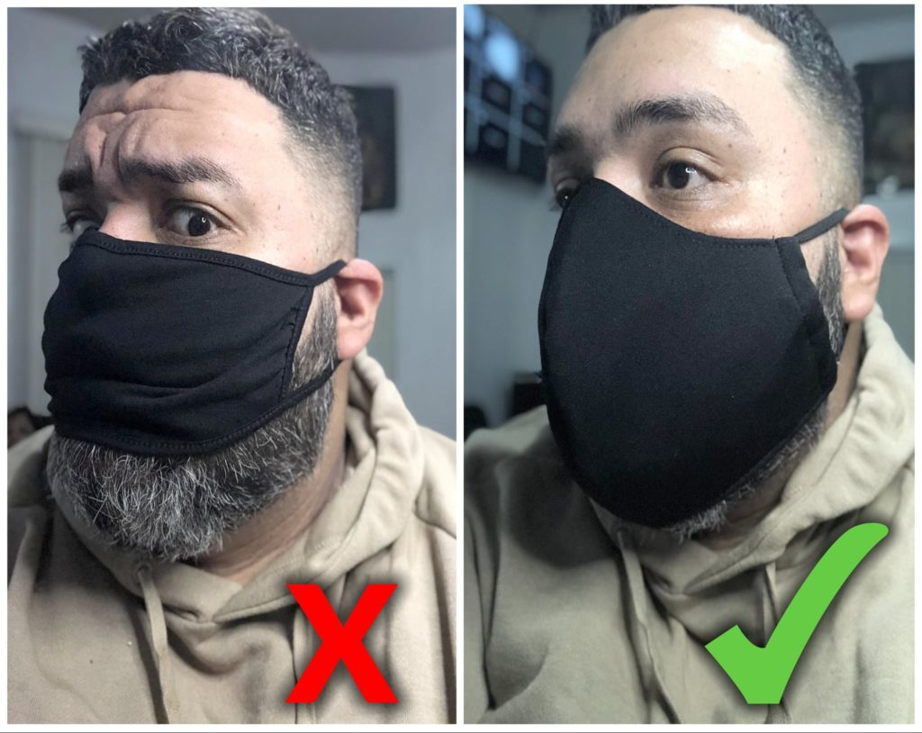 XL face mask for men with beard