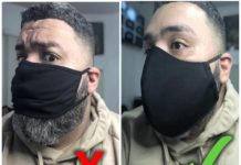 XL Fabric Face Masks for Men