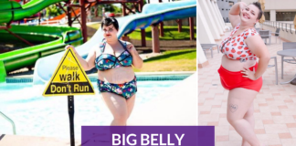 plus size swimsuit big belly