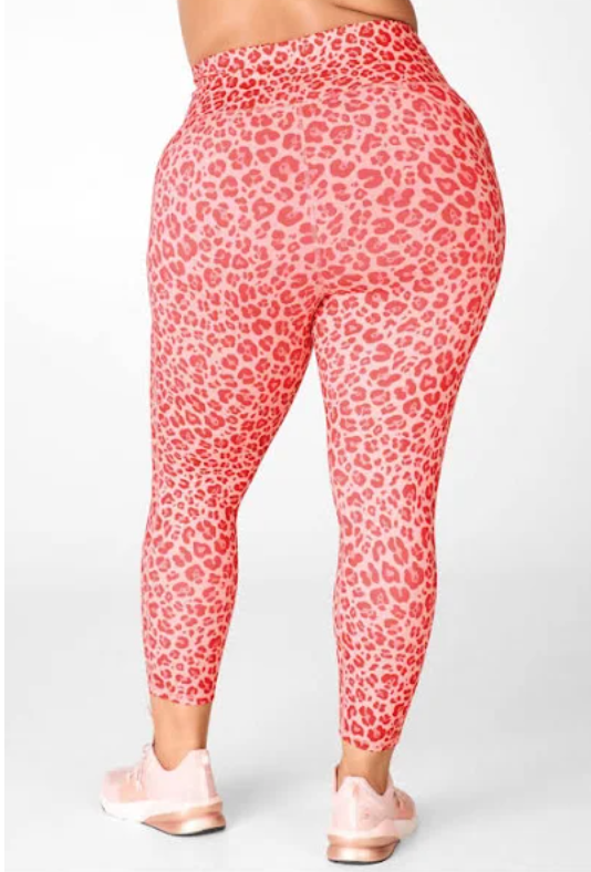 pink plus size leopard print leggings from fabletics