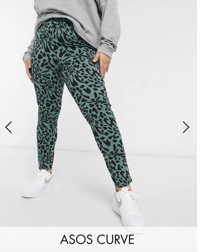 plus size animal print leggings