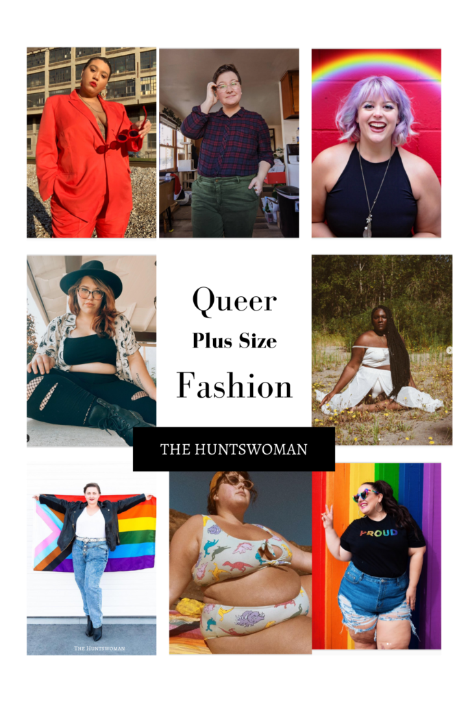 Looking for plus size queer fashion inspiration?  Want LGBT and fat positive creators on your feed?  Check out this blog post, where I list a bunch of queer creatives who are making queer plus size fashion content!