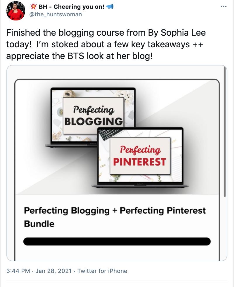 Sophia Lee Blogging Course Review