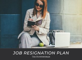 job resignation plan
