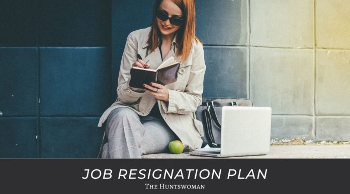 job resignation plan