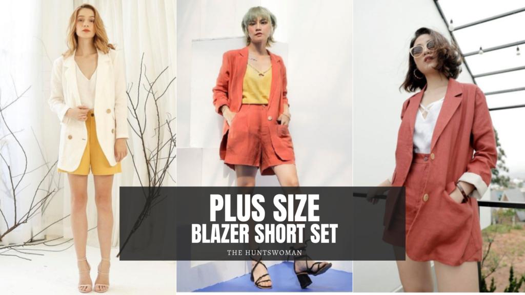 Plus Size Blazer Short Set made to order