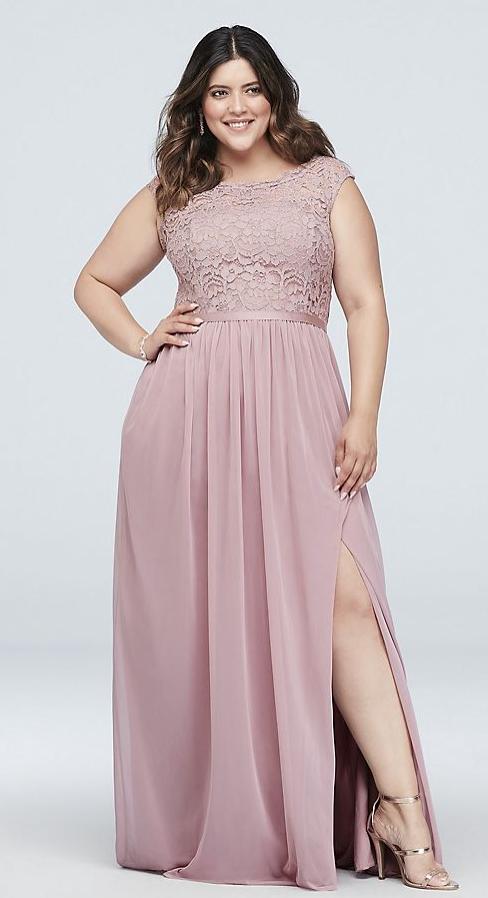Plus Size Bridesmaids Dress in blush