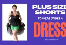plus size shorts to wear under a dress