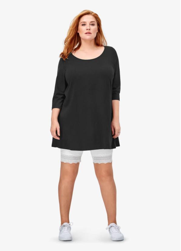plus size shorts to wear under dresses
