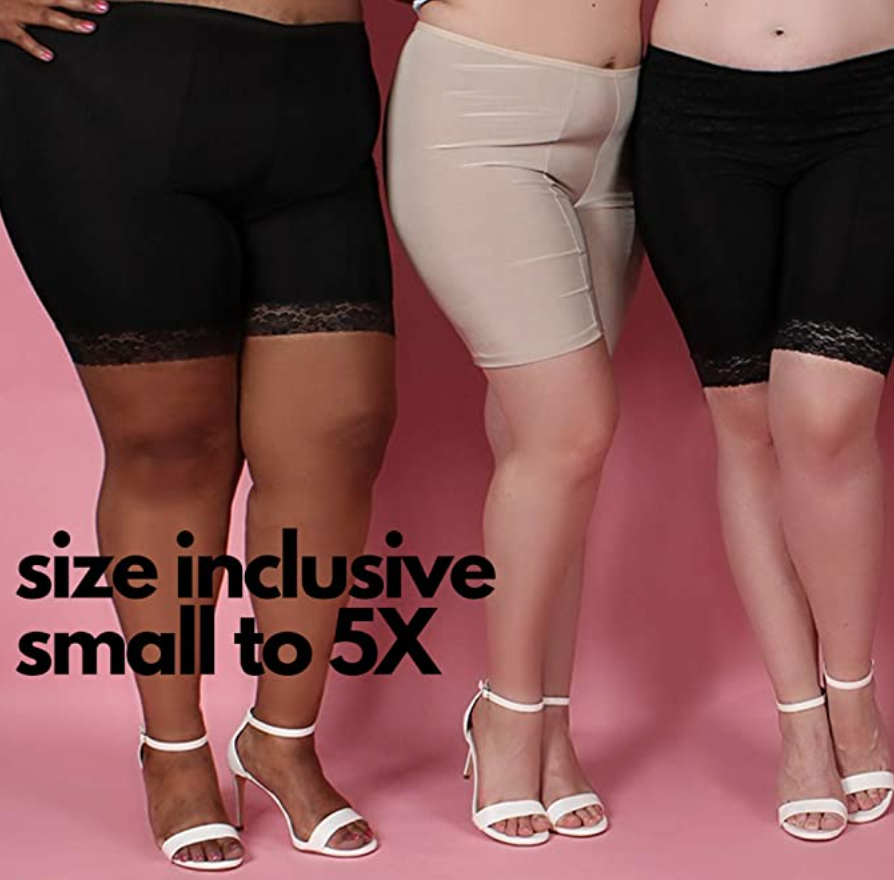 plus size shorts to wear under skirts