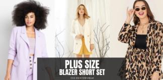 where to shop for plus size blazer set