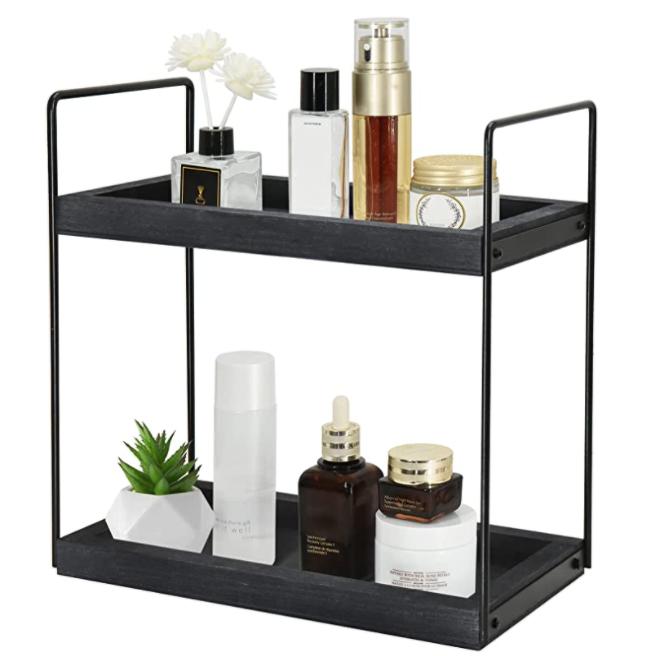 New Apartment Checklist: 2 Tier Shelf for Bathroom Counter