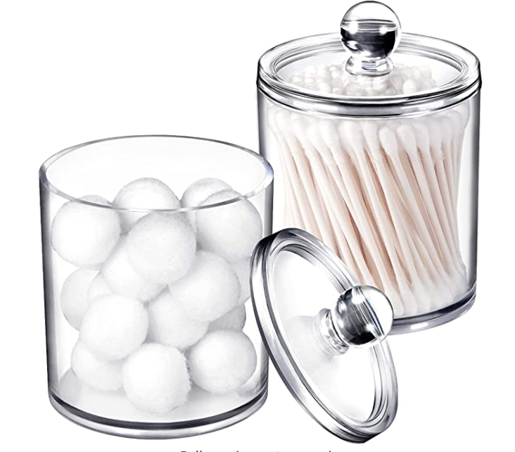 New Apartment Checklist: Jars for Q-Tips & Cotton Pads