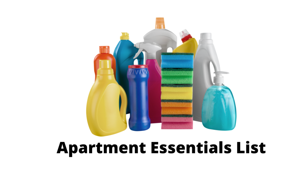 New Apartment Checklist - Cleaning Supplies