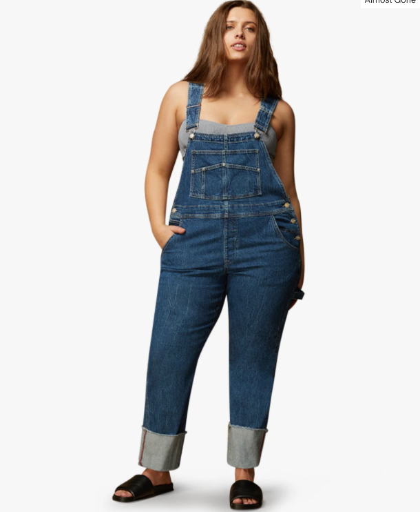 plus size overalls denim
