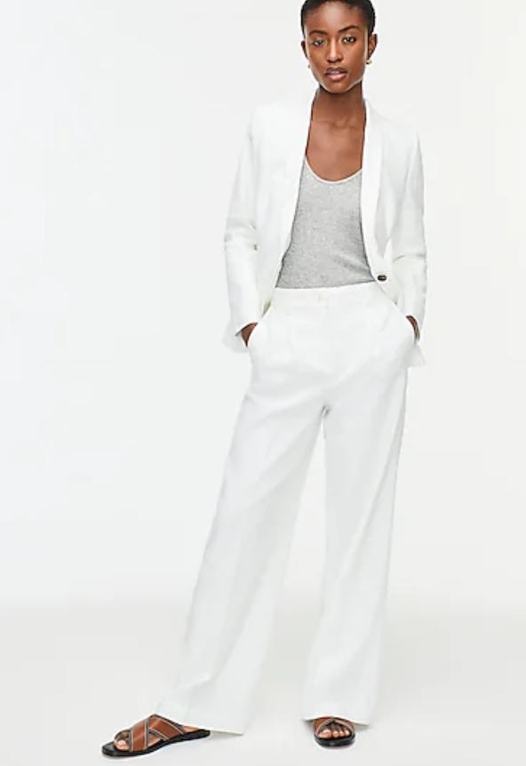 Plus Size White Wedding Suit