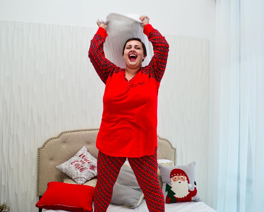 Plus Size Christmas pajamas blogger review