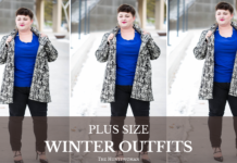 plus size winter fashion outfits