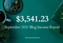september 2021 blog income report from blogger